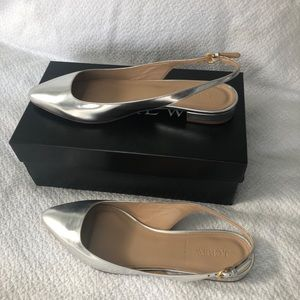 J.Crew Lucie Mirror Metallic Slingback Shoes